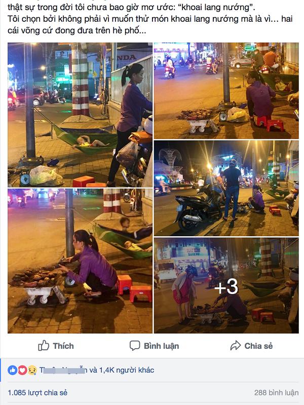 Hình ảnh của ba mẹ con được chia sẻ trên mạng xã hội.