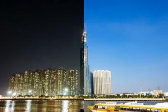 """""""Chuyện69"""" là trào lưu và thách thức chụp ảnh đang được chú ý trên mạng xã hội. Người chơi sẽ bắt lại khoảnh khắc vào hai thời điểm khác nhau trong ngày: 6h sáng và 21h tối bằng smartphone. Cặp ảnh tương phản ánh sáng nhưng vẫn tôn vinh được vẻ đẹp của các công trình kiến trúc hay nhịp sống phố phường ngày và đêm đã truyền cảm hứng cho nhiều sao Việt tham gia. Bắt nhịp xu hướng """"Chuyện69"""", Hà Anh Tuấn đã ghi lại hình ảnh một góc Sài Gòn để bày tỏ tình yêu và tri ân của anh dành cho mảnh đất này, cùng với lời khẳng định chắc nịch: """"Sài Gòn mãi là Sài Gòn, mãi đẹp dù ngày hay đêm""""."""
