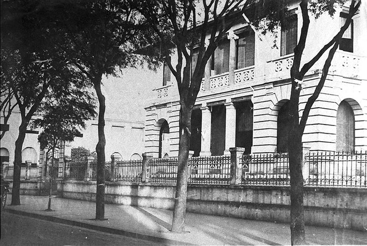 Dinh Thượng thư Nội vụ trong một bức ảnh chụp năm 1890. Ảnh tư liệu.