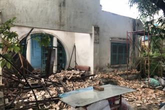 Căn biệt thự đường Nơ Trang Long, quận Bình Thạnh, TP HCM đã tháo dỡ.
