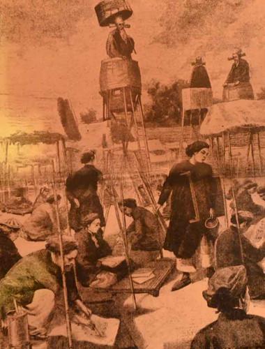 """Khung cảnh sĩ tử """"lều chõng"""" tham gia ứng thí tại Sài Gòn - Gia Định."""