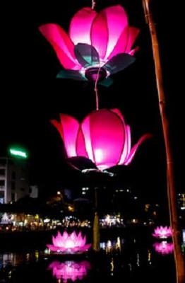 Ven kênh Nhiêu Lộc, những ngôi chùa như chùa Pháp Hoa, chùa Vạn Thọ,... đã cho cắm cờ nhà Phật, giăng đèn lồng,... tạo thành một cảnh tượng lung linh.