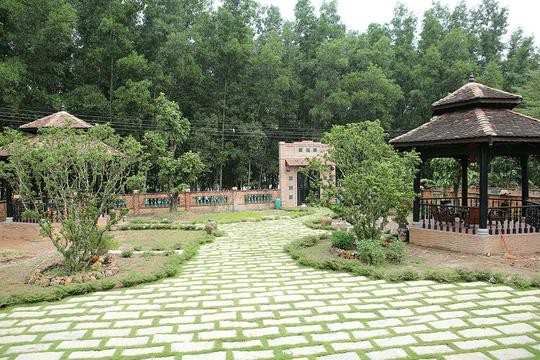Vì yêu thích khung cảnh yên bình và không khí trong lành, Hoàng Mập trồng cây xanh bao phủ khắp ngôi nhà. Anh muốn gia đình và khách viếng thăm cảm nhận sự nên thơ, yên tĩnh của vùng quê. Tất cả đều phủ màu xanh tươi mát.