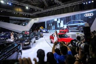 Gian hàng của Audi Việt Nam tại triển lãm quốc tế ô tô Việt Nam 2017. Ảnh: Văn Xuyên/BNEWS/TTXVN