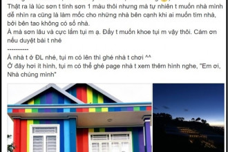 Câu chuyện ngôi nhà với 10 màu thu hút sự chú ý.
