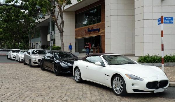 Hàng hiếm Maserati GranCabrio làm tăng sức nóng cho sự kiện