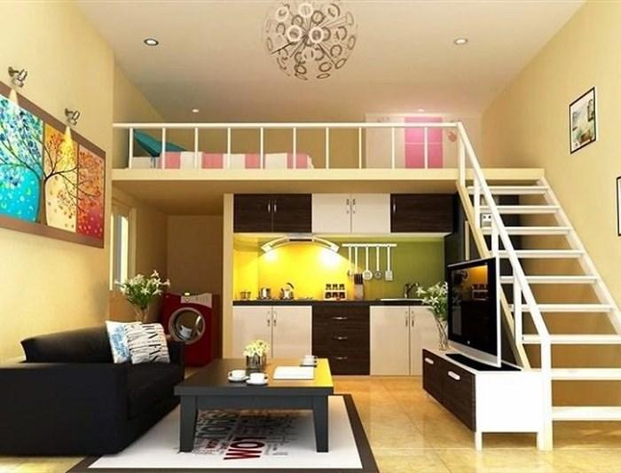 Nhà cấp 4 gác lửng hoàn hảo cho gia đình 2-3 người, đầy đủ phòng khách, ngủ, bếp và nội thất được bố trí hoàn hảo. Ảnh: Herstyle.