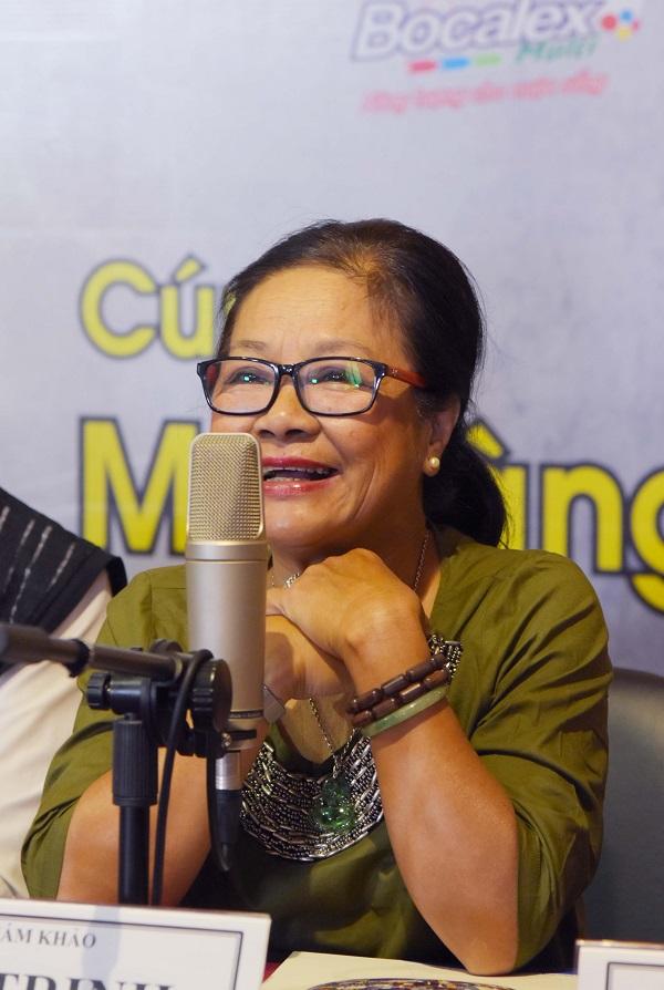 Giọng nói huyền thoại Tú Trinh trong buổi phát động cuộc thi