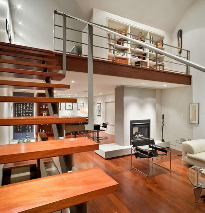 Bên cạnh làm phòng ngủ, gác lửng còn có thể sử dụng cho không gian đọc sách, thư giãn. Ảnh: Homedesign.