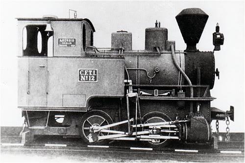 Đầu máy hơi nước cỡ nhỏ dùng chạy tuyến Sài Gòn – Chợ Lớn