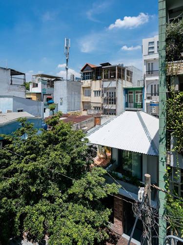 Khoảng sân rộng phía trước ngôi nhà khiến nhóm thiết kế nảy ra ý tưởng lấy cảm hứng từ chiếc ô để khai thác được tầm nhìn đẹp từ cảnh quan xung quanh.