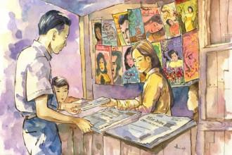 Những sạp báo mất hút, cuộc sống lại thêm những phận đời trôi nổi chênh vênh giữa Sài thành - Ảnh: Thoibao
