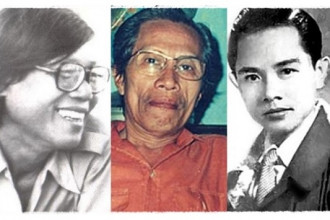 Nhạc sĩ Trúc Phương, Y Vân, Thanh Bình - Ảnh: Tư liệu/ghép