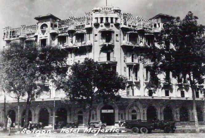 Khách sạn Majestic do dòng họ Hui bon Hoa xây dựng và tặng TP Sài Gòn thời thuộc Pháp - Ảnh tư liệu