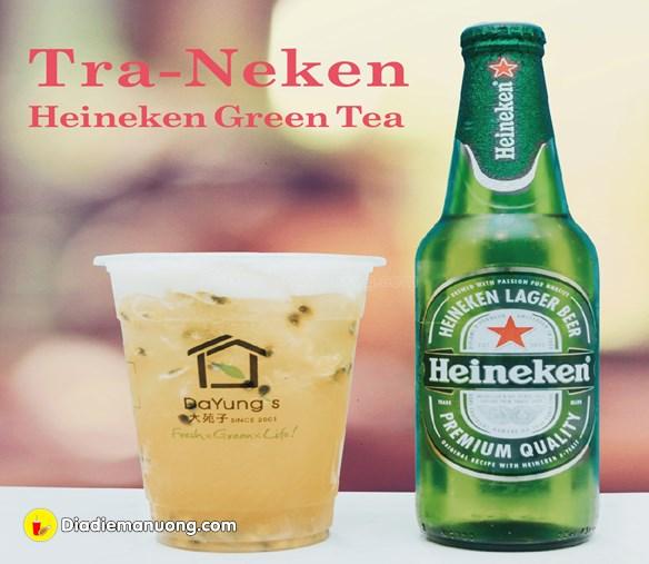 Đầu tiên mình gọi ngay món mới của quán liền đó là Trà- Neken 65k (M)