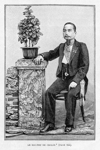 Hình ảnh Tổng đốc Phương in trên một ấn phẩm xuất bản năm 1894. Năm 1879, ông Phương làm phụ tá cho thị trưởng Chợ Lớn là Antony Landes. Do các mối quan hệ làm ăn với người Hoa, ông giàu lên rất nhanh từ giai đoạn này. Ảnh tư liệu.