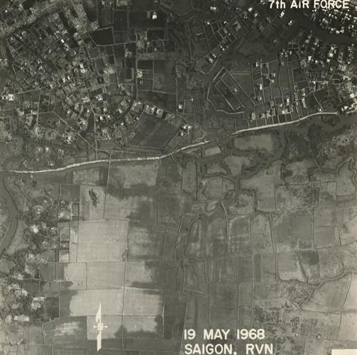 Ấp Tân Chánh ở huyện Bình Chánh. Ảnh: Vietnam Center and Archive.