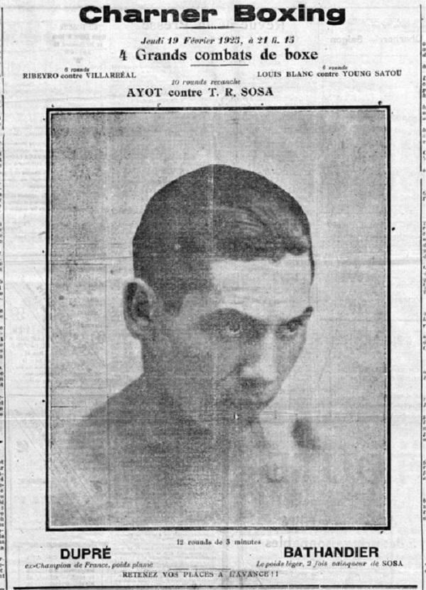 QUẢNG CÁO ĐẤU QUYỀN ANH VÀO NGÀY 19.2.1923 Ở CHARNER BOXING