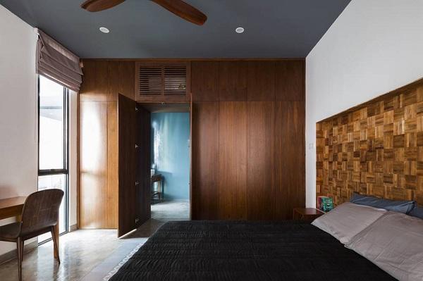 Toàn bộ phòng ngủ đều sử dụng nội thất với sắc màu trung tính nhưng vẫn tạo cảm giác thoải mái khi nghỉ ngơi.
