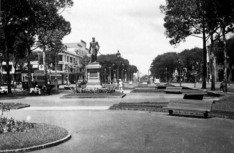 Vườn hoa Francis Garnier, sau này là công trường Lam Sơn. Ảnh tư liệu.