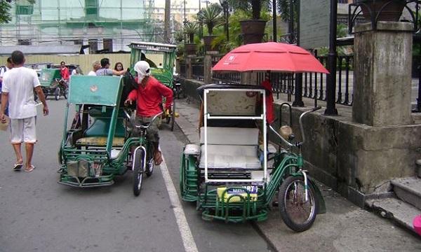 Tricycle ở trung tâm thành phố Manila