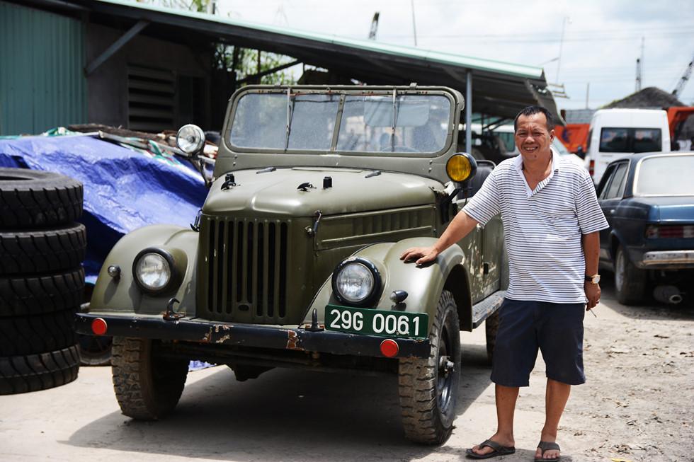Chiếc Gaz 69 vẫn thường được ông Giang sử dụng để đi lại HOÀI NHÂN