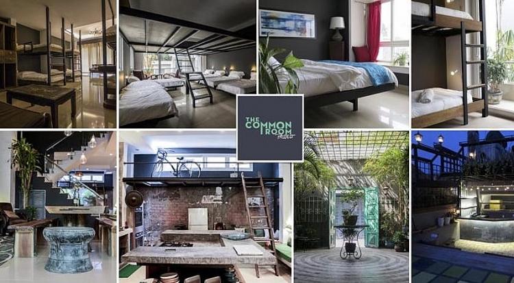 The Common Room Project gồm 4 phòng đơn với 48 giường và 4 phòng độc lập dành riêng cho các cặp đôi hay các hộ gia đình với mức giá khoảng 1 triệu/ phòng.