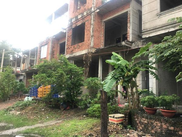 Mỗi căn biệt thự có giá khoảng từ 20 - 24 tỉ đồng bỏ hoang hàng chục năm nay