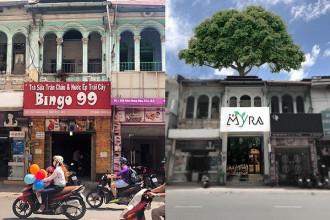 Quán The Myra – Coffee & Tea được cải tạo từ ngôi nhà xây dựng từ thời Pháp thuộc, đã hơn 100 năm tuổi và rộng 100 m2.