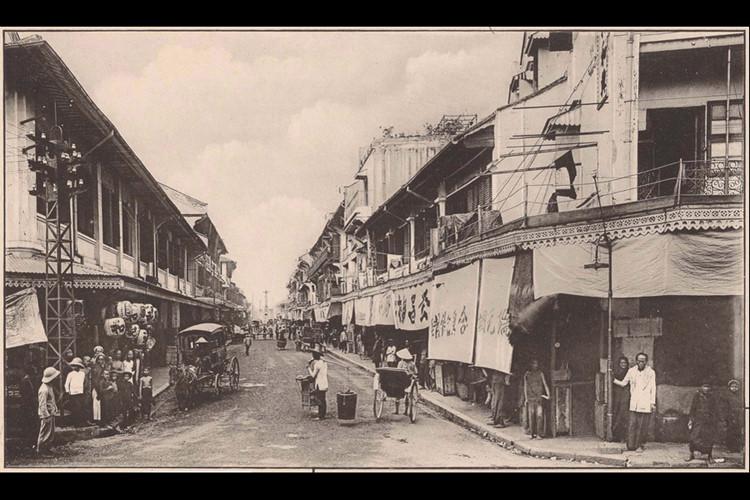 Đường Gia Long (nay là đường Trịnh Hoài Đức), Chợ Lớn năm 1922. Ảnh: Ludovic Crespin.