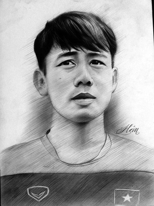Tiền vệ Minh Vương-tác giả của siêu phẩm vào lưới O.Hàn Quốc