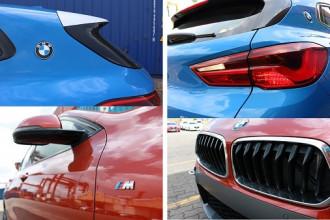BMW X2 xanh dương Misano Blue đậm chất thể thao. Đuôi xe vuốt mềm mại từ phía trước về phía sau, tích hợp thêm cánh lướt gió cỡ nhỏ hình dạng đuôi cá thể hiện sự linh hoạt và nhanh nhẹn trong di chuyển.