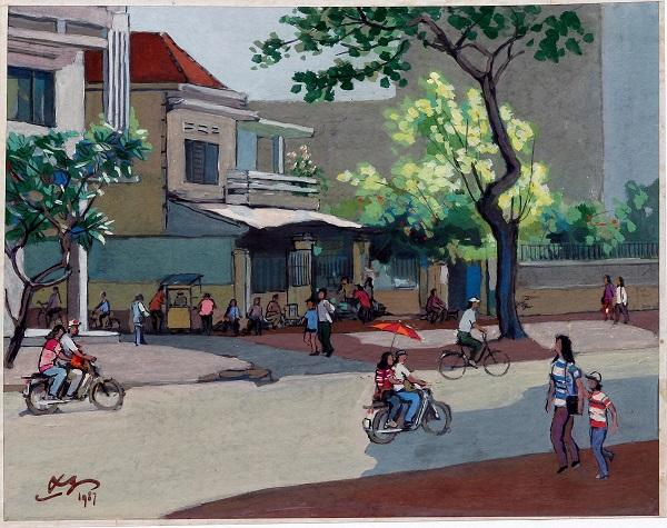 Khu phố nơi họa sỹ Lê Văn Xương sống