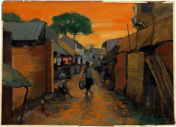 Đó còn là bóng hoàng hôn vàng vọt đổ xuống góc xóm nghèo nơi con phố Trần Nhật Duật