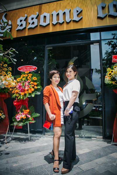 Mis Hường đại diện SSome Coffee và bạn thân: Ms Thúy đại diện Bukchon- nhà hàng Hàn Quốc