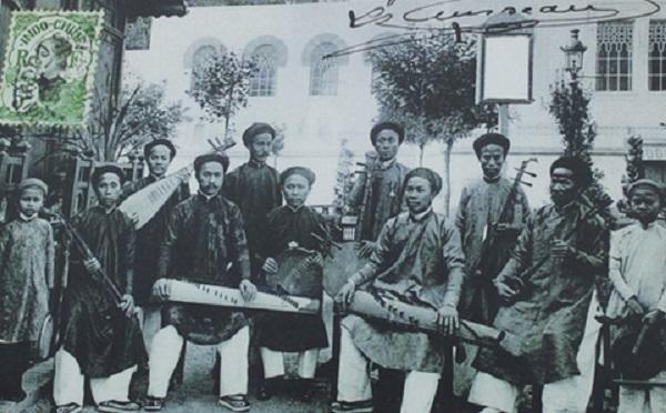 Ban nhạc Sài Gòn năm 1900.