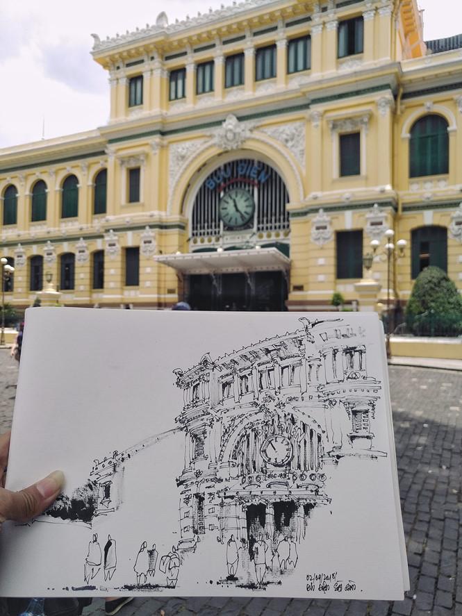 Mỗi người có mỗi cách vẽ bưu điện thành phố khác nhau Z.A