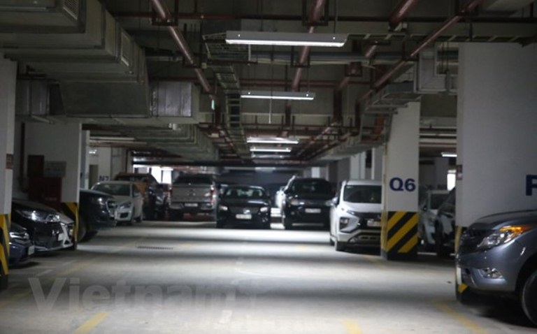 Diện tích đỗ xe ôtô trong chung cư