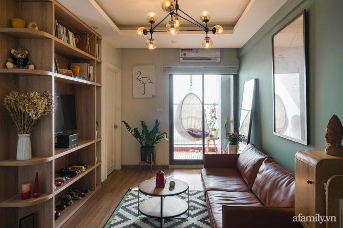 Căn hộ 60m² hoàn thiện nội thất tinh tế dành cho vợ chồng trẻ có chi phí 250 triệu đồng ở Hà Nội - Ảnh 1.
