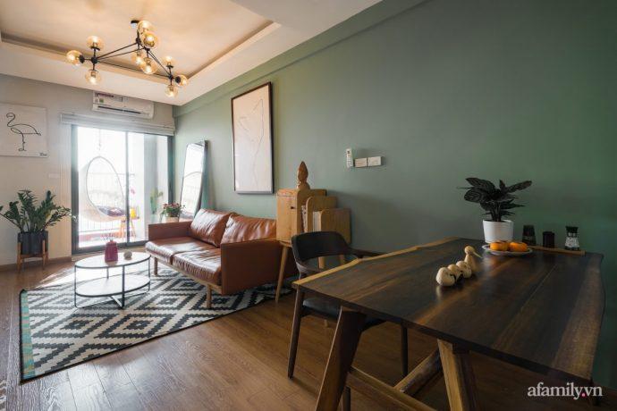 Căn hộ 60m² hoàn thiện nội thất tinh tế dành cho vợ chồng trẻ có chi phí 250 triệu đồng ở Hà Nội - Ảnh 2.
