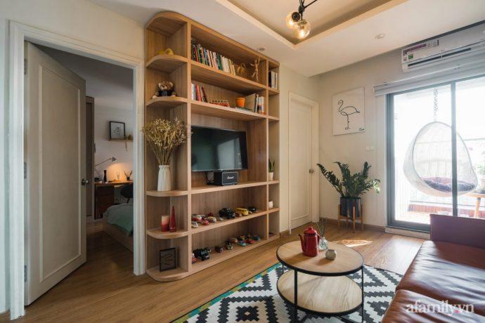 Căn hộ 60m² hoàn thiện nội thất tinh tế dành cho vợ chồng trẻ có chi phí 250 triệu đồng ở Hà Nội - Ảnh 5.