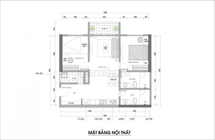 Tư vấn thiết kế căn hộ rộng 88m² theo phong cách Rustic hiện đại cho gia đình ở Hoàng Mai, chi phí tiết kiệm chỉ 118 triệu đồng - Ảnh 2.