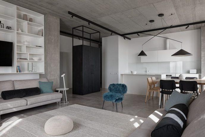 Tư vấn thiết kế căn hộ rộng 88m² theo phong cách Rustic hiện đại cho gia đình ở Hoàng Mai, chi phí tiết kiệm chỉ 118 triệu đồng - Ảnh 5.