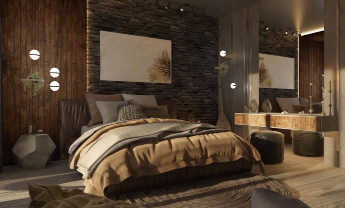 Tư vấn thiết kế căn hộ rộng 88m² theo phong cách Rustic hiện đại cho gia đình ở Hoàng Mai, chi phí tiết kiệm chỉ 118 triệu đồng - Ảnh 6.