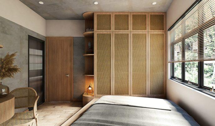 Tư vấn thiết kế căn hộ rộng 88m² theo phong cách Rustic hiện đại cho gia đình ở Hoàng Mai, chi phí tiết kiệm chỉ 118 triệu đồng - Ảnh 9.