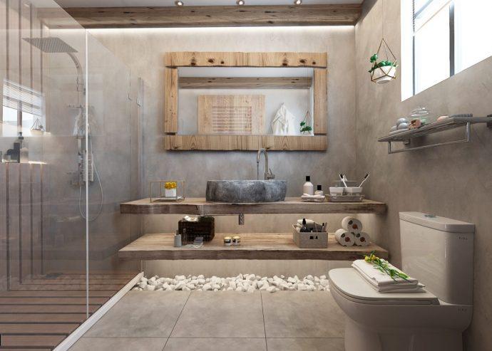 Tư vấn thiết kế căn hộ rộng 88m² theo phong cách Rustic hiện đại cho gia đình ở Hoàng Mai, chi phí tiết kiệm chỉ 118 triệu đồng - Ảnh 10.